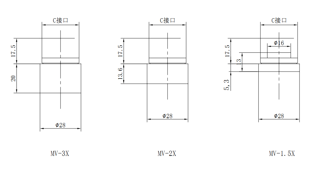 Drawings for C-Mount Extender